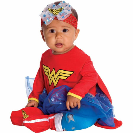 Wonder Woman Onesie Infant Halloween Costume - Full Body Suit Halloween