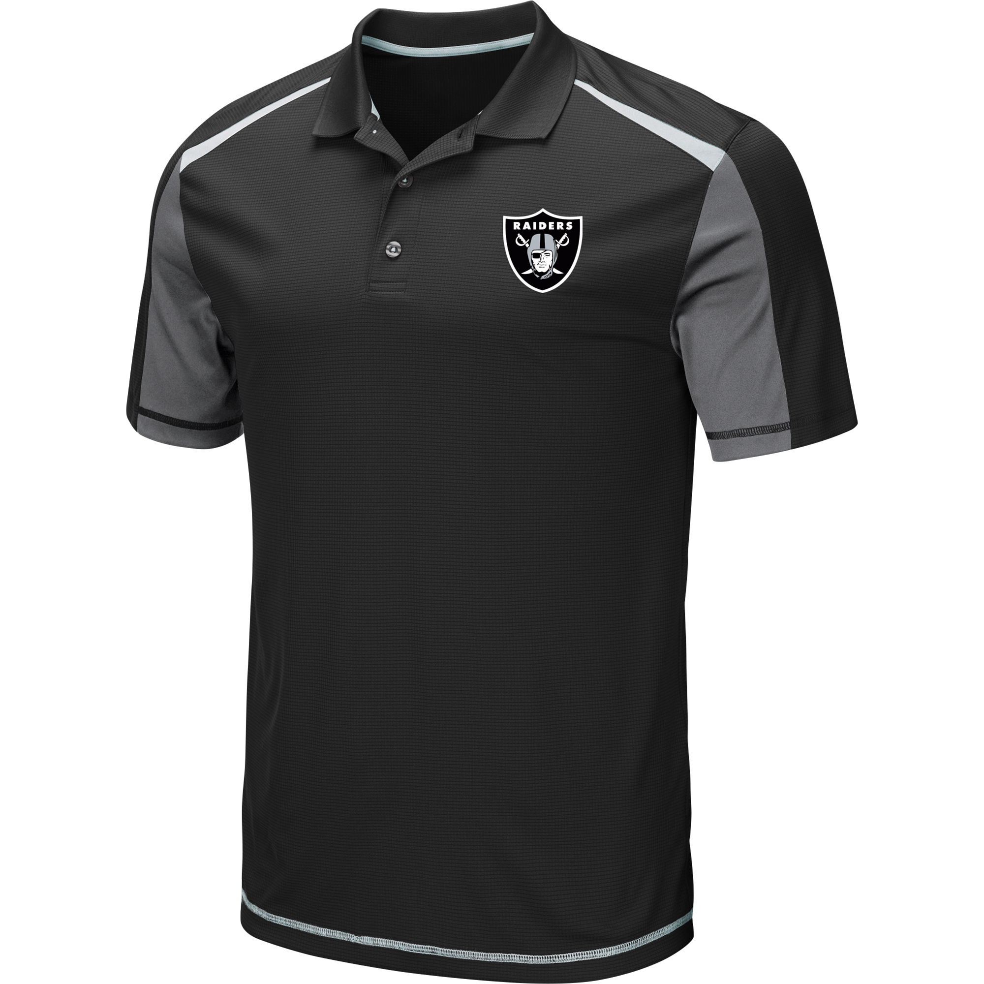 Men's Black Oakland Raiders Draft Prize Polo