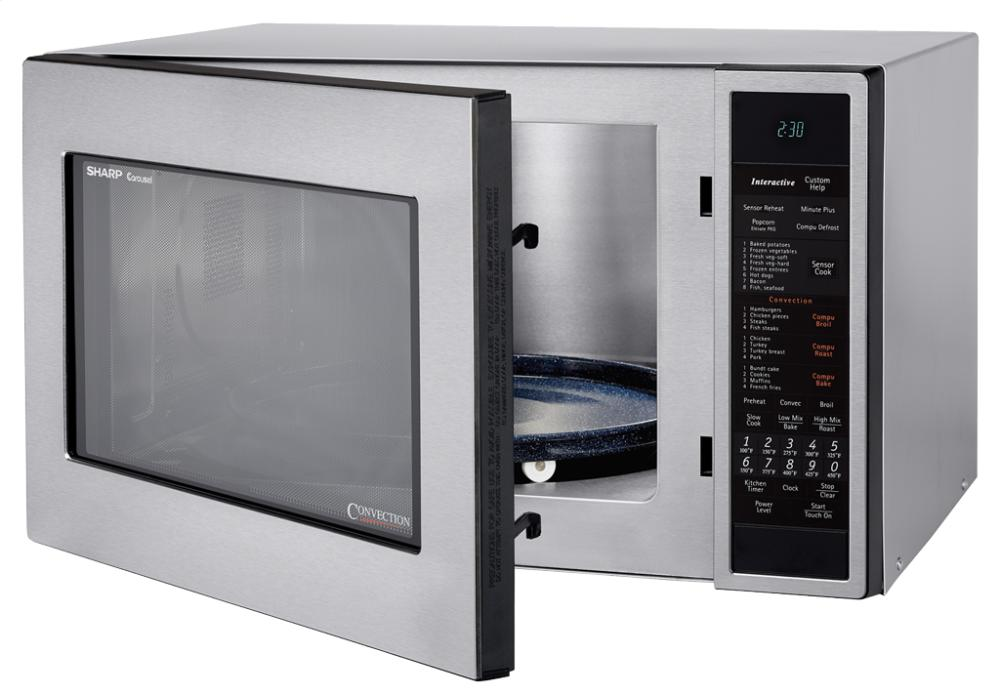 Sharp R930cs Carousel Countertop Convection Microwave Oven 1 5 Cu Ft 900w Stainless Steel