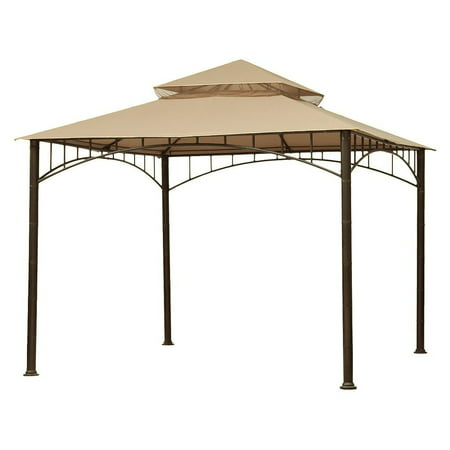 Garden Winds Replacement Canopy Top for Target Madaga Gazebo, Beige