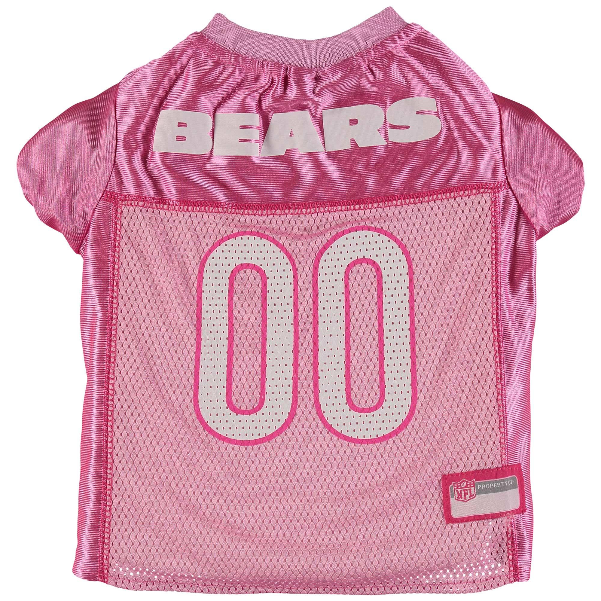 Chicago Bears Mesh Dog Jersey - Pink