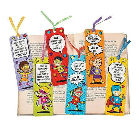 24 Laminated Superhero Bookmarks - 3d Bookmarks For Kids
