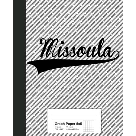 Graph Paper 5x5: MISSOULA Notebook Missoula 1 Light