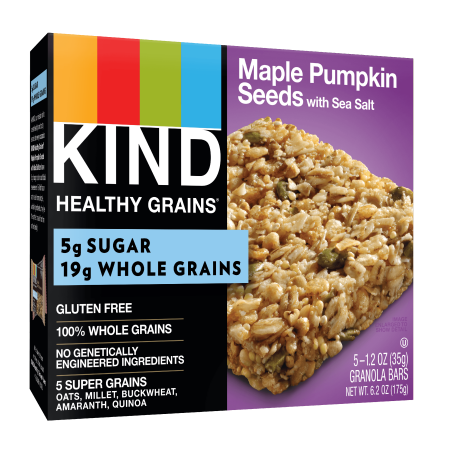 - (2 Pack) KIND Healthy Grains Granola Bar, Maple Pumpkin Seeds with Sea Salt, 5 Bars, Gluten Free, Healthy Grains Bars