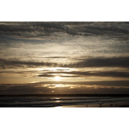 South Beach Colors (LAMINATED POSTER Sunset Sea Beach South Beach Ocean Newport Poster Print 24 x 36 )