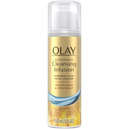 Olay Micropolishing Cleansing Infusion Hydrating Glow Facial Cleanser, Crushed Ginger & Citrus Extract, 150 mL (Pack of - Olay Hydrating Cleanser