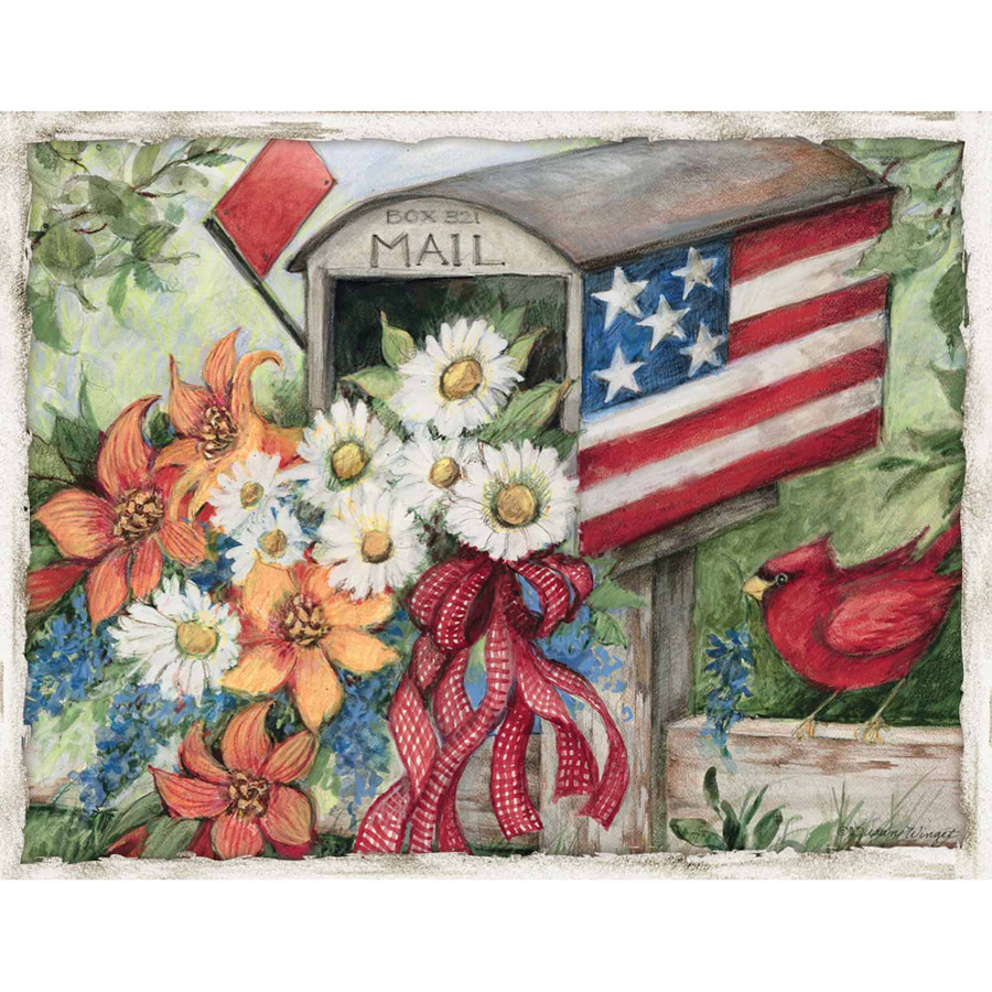 Lang Flag Mailbox Boxed Note Cards