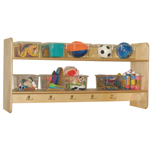 Wood Designs Ten Hook Open Face Wall Locker