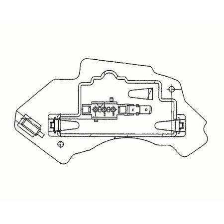 E320 Blower Regulator (Hella Behr 351321131 HVAC Blower Motor Regulator for Mercedes-Benz E300,)