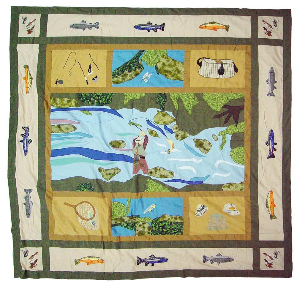 "Patch Magic Fly Fishing Shower Curtain 72""X 72"""