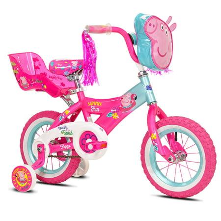 Peppa Pig 12u0022 Girls Bike, Pink, For Ages 2-5