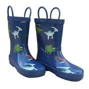 Foxfire FOX-600-65-12 Childrens Blue Dinosaurs Rain Boot - Size 12