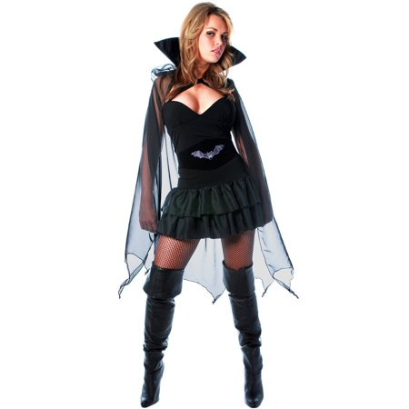 Into The Night Women's Halloween Costume, One Size, XL (18-20) - Halloween Nights London