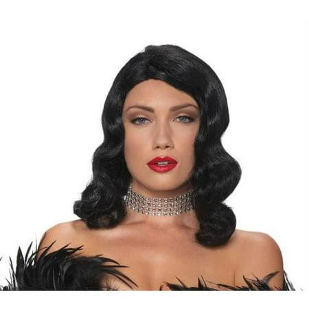 Morris Costumes MR177696 Wig Femme Fatale Black - Femme Halloween Maquillage