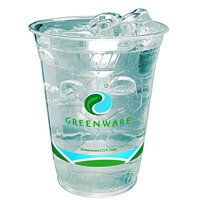 Fabri-Kal 9509206.04 16 oz Greenware Cup Stock Print, Clear - Case of 1000