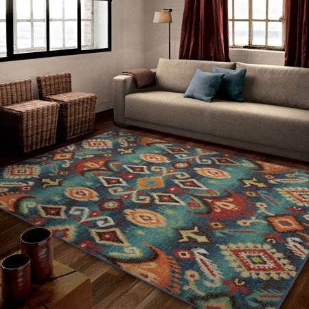 orian rugs bright southwest aztec eastern tradition multi colored area rug. Black Bedroom Furniture Sets. Home Design Ideas