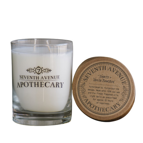 Seventh Avenue Apothecary Tobacco and Vanilla Bourbon Soy Scented Jar Candle (Set of 2)