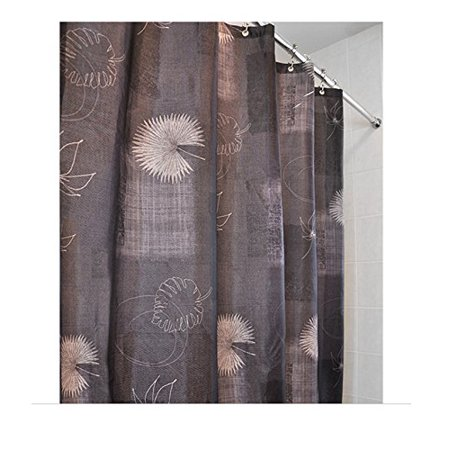 Whisper Nature Print Fabric Shower Curtain With Metal Grommets