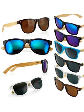 7ee726e3aff Product Image Fashion Vintage Wood Wooden Frame Mens Womens Glass Bamboo  Sunglasses Eyewear