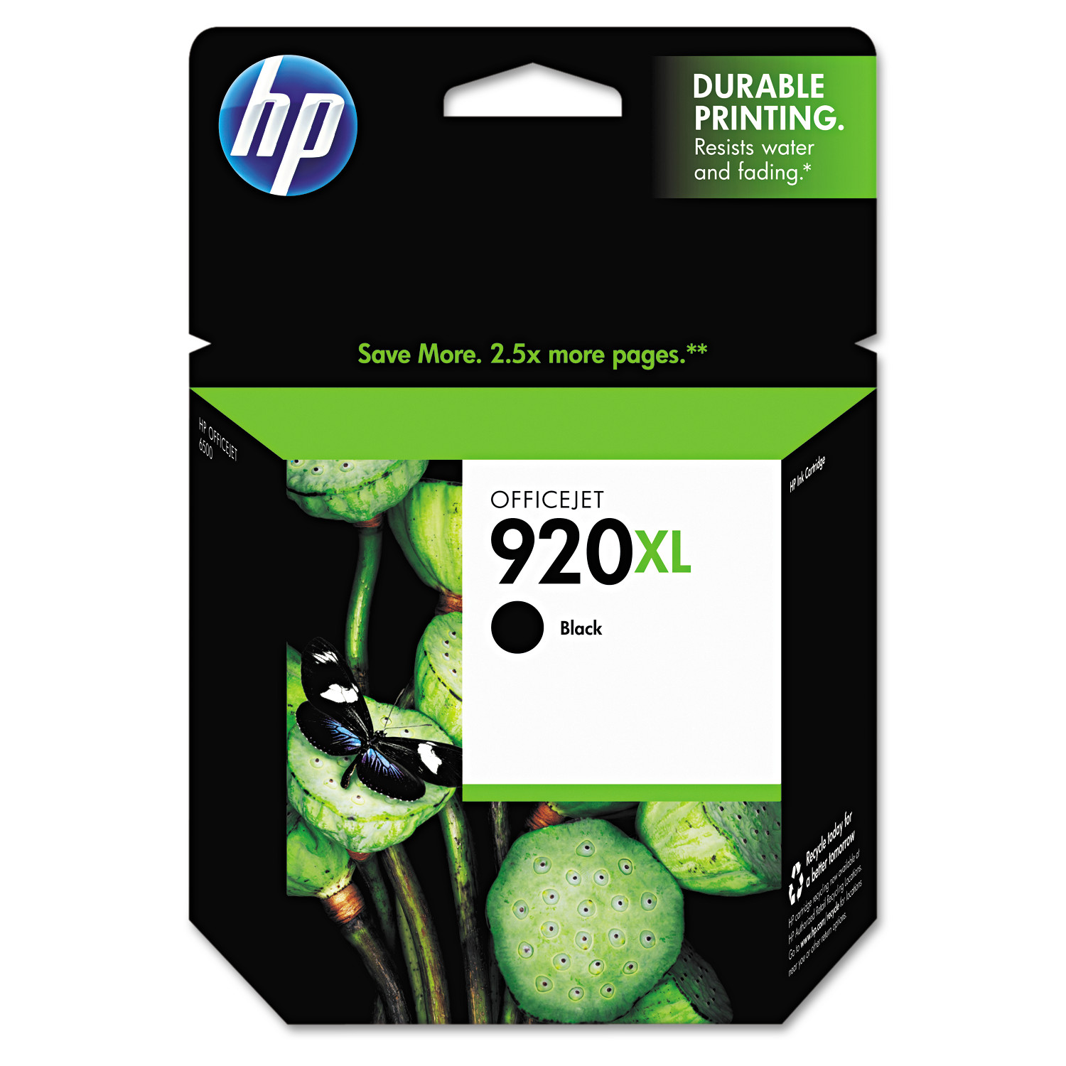 HP 920XL, (CD975AN) High Yield Black Original Ink Cartridge