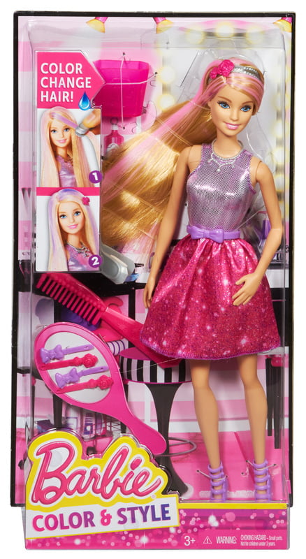 Barbie Hair Color And Style Doll Walmart