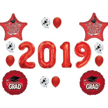 XL RED CLASS OF 2019 Graduation Party Balloons Decoration Supplies ()