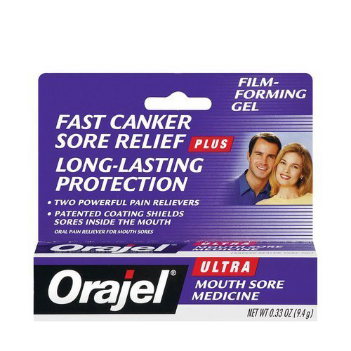 Orajel Ultra Mouth Sore Medicine, Canker Relief - 0.33 Oz, 2 Pack