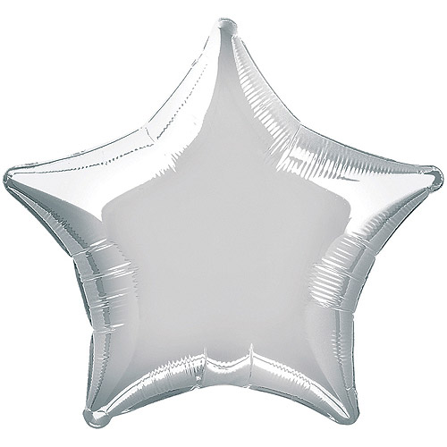 "20"" Foil Silver Star Balloon"