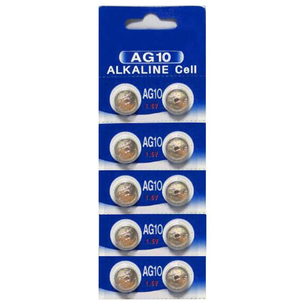 AG10 / LR1130 Alkaline Button Watch Battery 1.5V - 10 Pack - FREE SHIPPING!