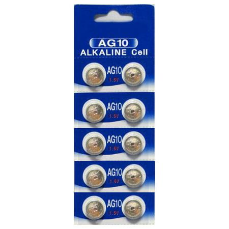 AG10 / LR1130 Alkaline Button Watch Battery 1.5V - 10 Pack - 30% Off!