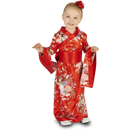 Japanese Kimono Toddler Halloween Costume, Size 3T-4T (Japanese Emoticons Halloween)
