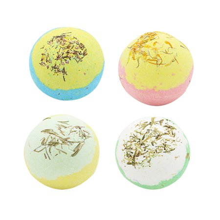 4 PCS Bath Salt Ball With Dried Flower Essential Oil Bathing Ball with Box Multiple Bubble Skin Moisturizing Exfoliating Bathing Supplies - image 3 of 3