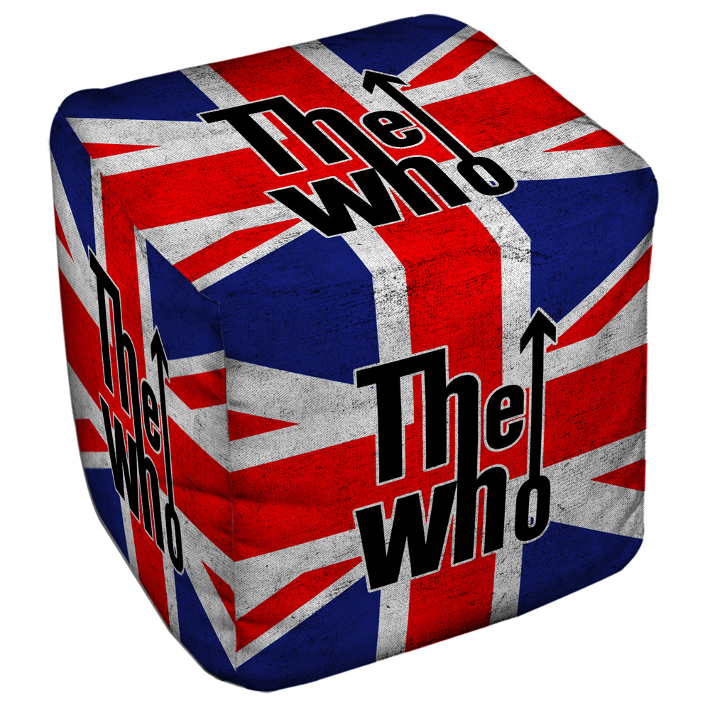 The Who Who Flag Cube(Ottoman) White 18X18X18