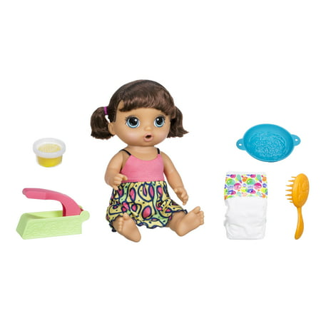 Baby Alive Super Snacks Snackin Noodles Baby Doll   Brunette Hair