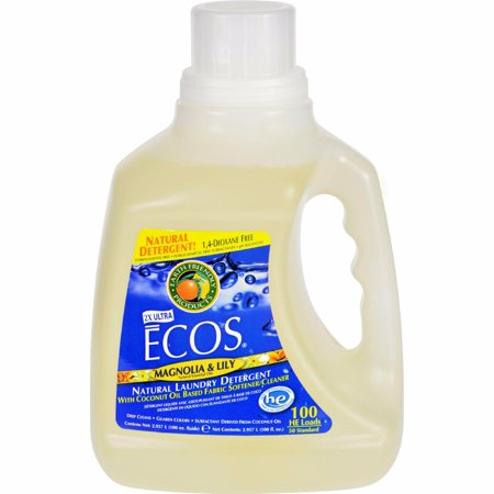 Earth Friendly Ecos Ultra 2x All Natural Laundry Detergent - Magnolia And Lily - 100 (Ecos Magnolia)