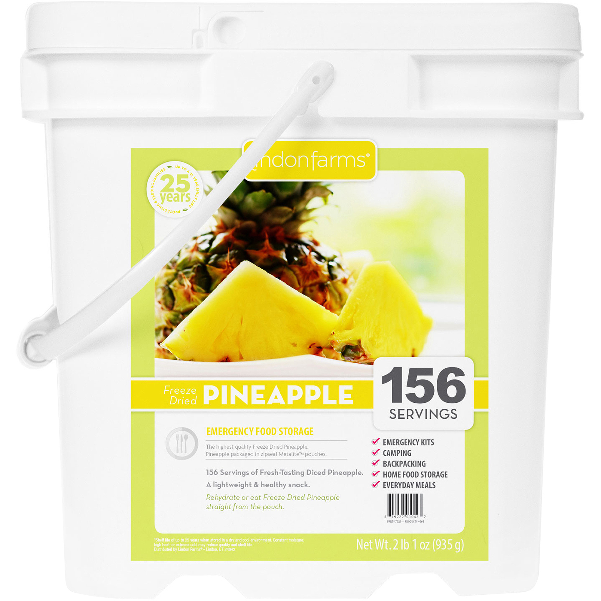 Lindon Farms 156 Servings Freeze Dried Pineapple