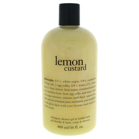 Philosophy Lemon Custard Shampoo, Shower Gel & Bubble Bath, 16 Fl Oz Shower Gel Bubble Bath Shampoo