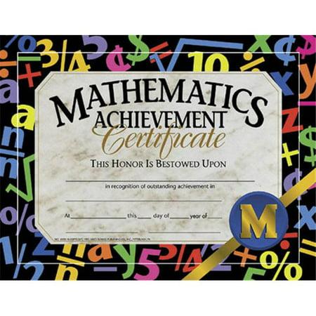 HAYES School Publishing H-VA581 CERTIFICATS DE MATH-MATIQUES ACHIEVE.-CERTIFICATS DE MATH-MATIQUES atteindre. - image 1 de 1
