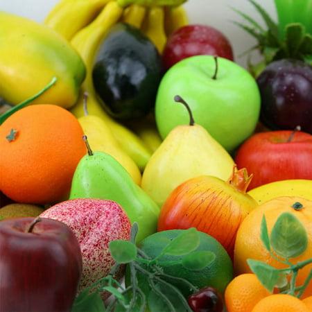 HiCoup Lifelike Decorative Artificial Fruits Fake Apple Banana Pear Home House Decor - Fake Sideburns