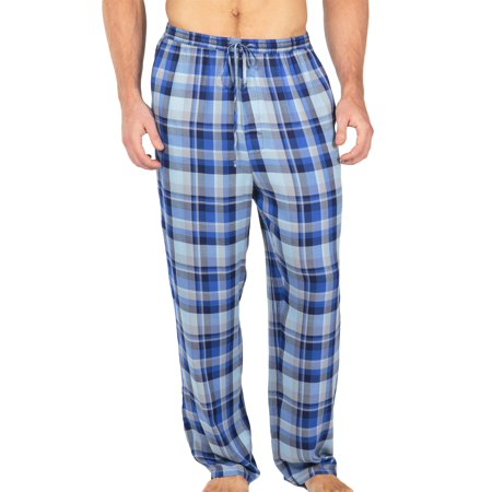 Men's Woven Plaid PJ Pants - Pajamas in Bamboo Viscose by Texere (Hypnotique)