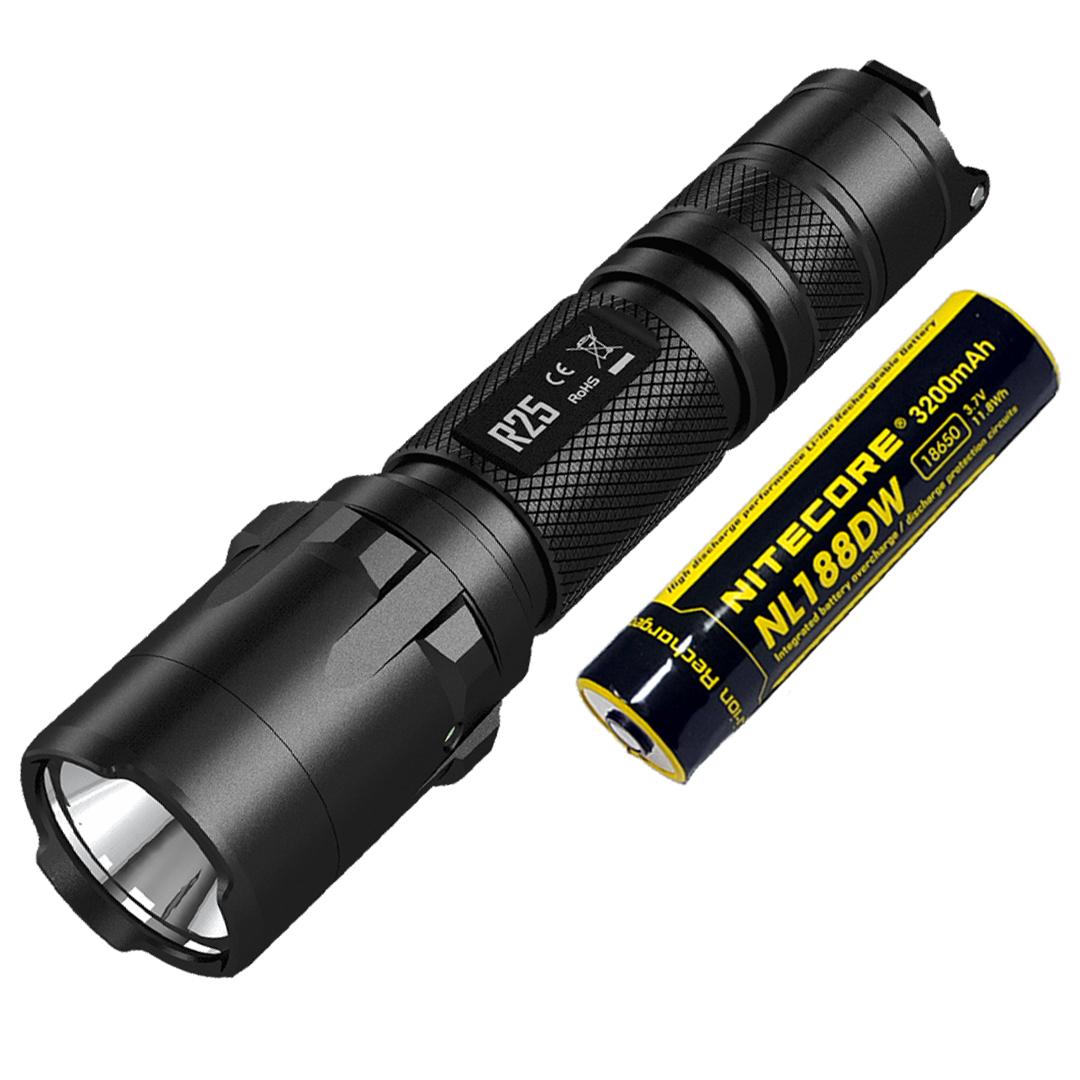 NITECORE R25 Rechargeable 800 Lumen Flashlight w/ Charging Dock