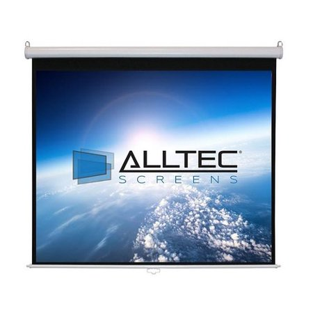 Hamilton Electronics White Manual Projection Screen