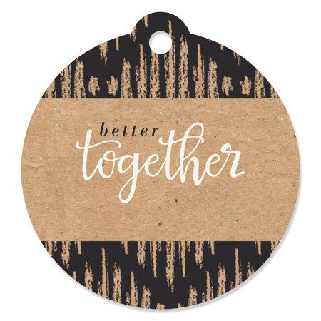 Better Together - Die-Cut Wedding Favor Tags (Set of 20)