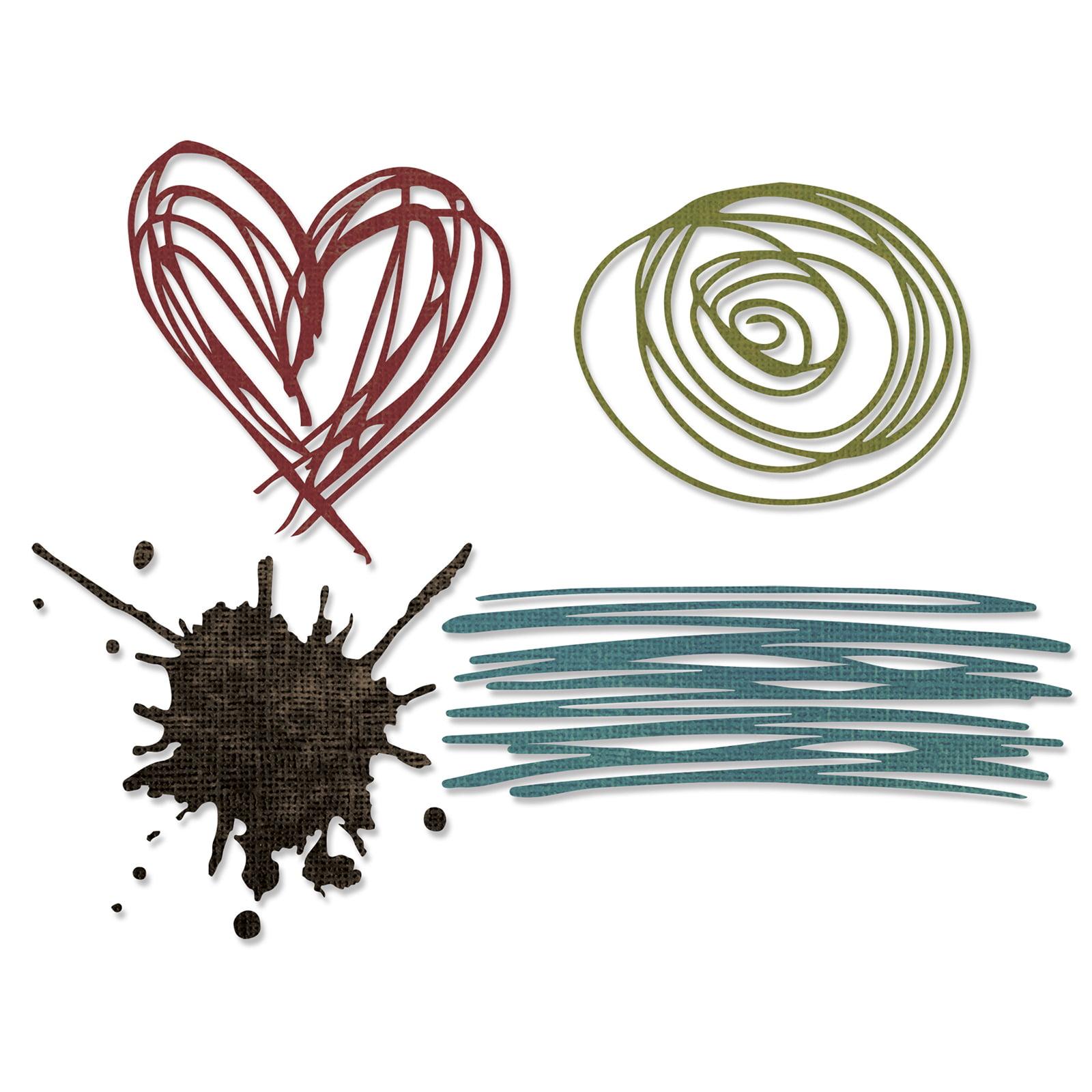 Sizzix Thinlits Dies - Scribbles & Splat by Tim Holtz