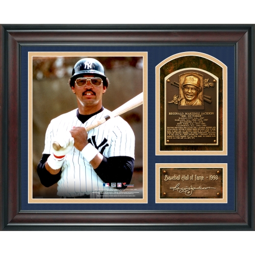 "Reggie Jackson New York Yankees Fanatics Authentic Framed 15"" x 17"" Baseball Hall of Fame Collage with Facsimile Signature - No Size"