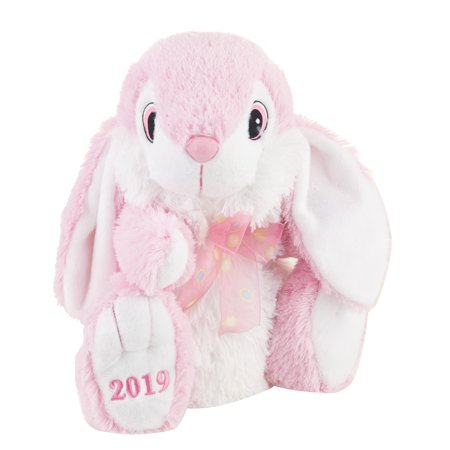 Way to Celebrate Pink Hopster Bunny 2019 Plush](Pink Bunny Stuffed Animal)