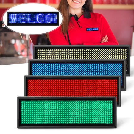 New Mini LED Digital Tag Badge Sign Programmable Rechargeable Scrolling (Mini Led Scrolling Text)