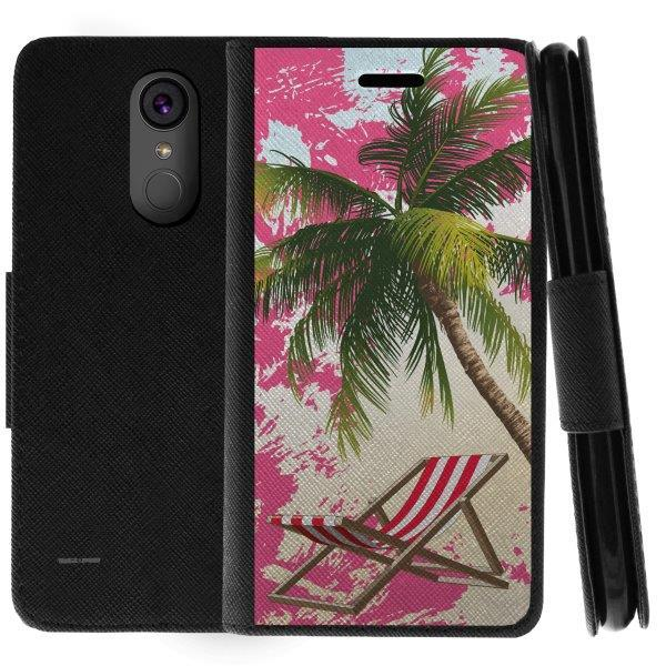 TurtleArmor ® | For LG Stylo 3 | LG Stylus 3 | LG Stylo 3 Plus [Wallet Case] Leather Cover with Flip Kickstand and Card Slots - Paradise Island