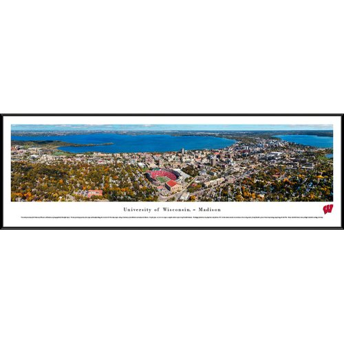 Blakeway Worldwide Panoramas, Inc NCAA Wisconsin, U of - Aeria - Football by James Blakeway Framed Photographic Print