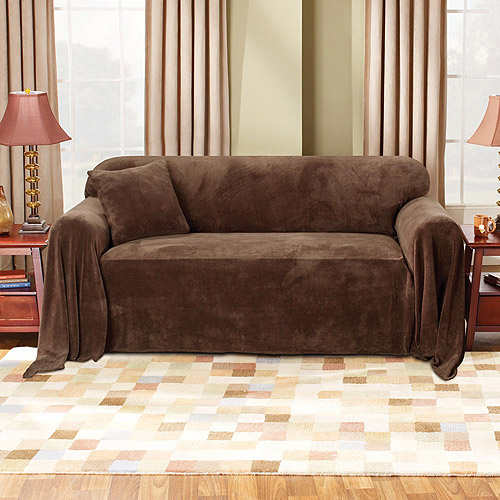 Mainstays Plush Loveseat Furniture Throw Walmartcom